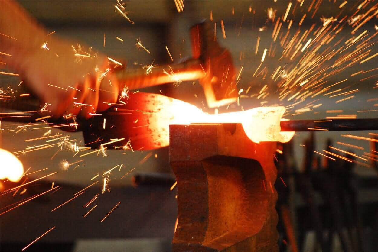 Hot forging metal 90
